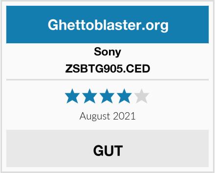 Sony ZSBTG905.CED Test