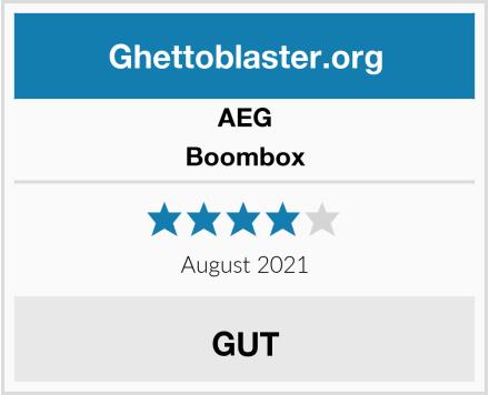 AEG Boombox Test