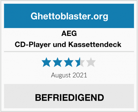 AEG CD-Player und Kassettendeck  Test
