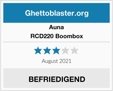 Auna RCD220 Boombox Test