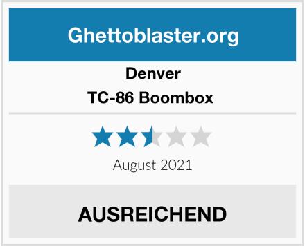 Denver TC-86 Boombox  Test